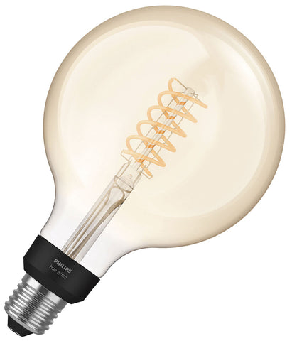 Philips Hue Filament G125 Bulb E27 7W - Dimmable White