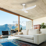 EGLO Noosa White DC Ceiling Fan With Light