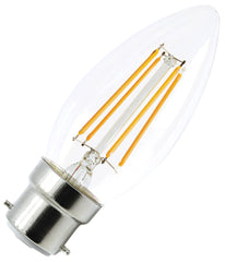LED Filament Candle Bulb B22 4W Dimmable