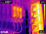 FLIR E5 Sample Image - Electrical Fuses