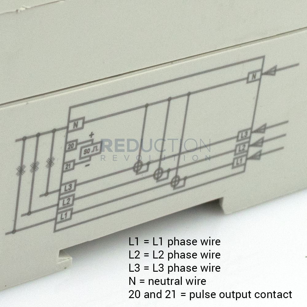 Three Phase Electricity Sub Meter 100 Amp 3 4 Wire Diagram Of Energy