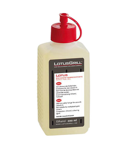 LotusGrill Ethanol Safety Fuel Gel 200ml