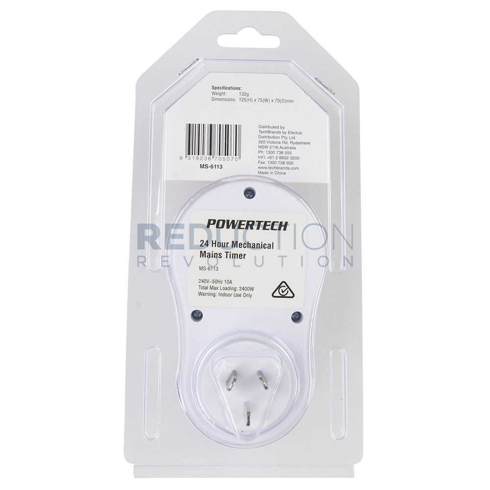 24-Hour Indoor Plug-In outlet Timer Switch ON//OFF For Light Fans Home Appliance
