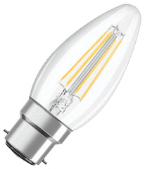 B22 Candle Filament Light Bulb 4W (40W)