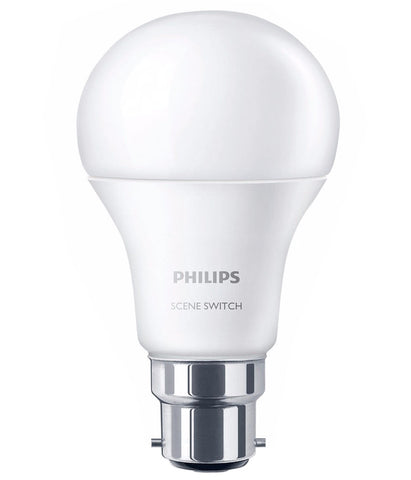 Philips SceneSwitch Colour Change LED Bulb B22 9.5W