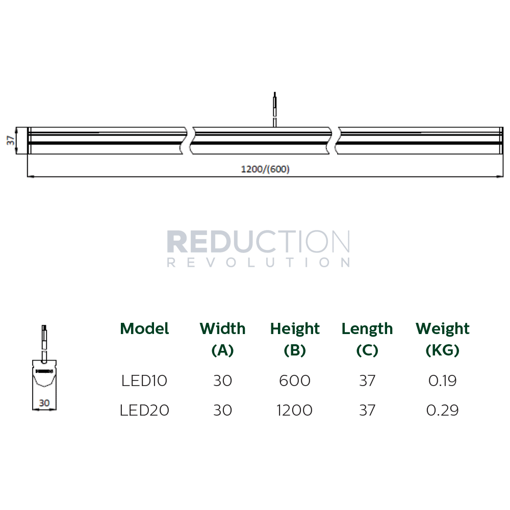 philips smartbright led batten 11w  600mm  or 21w  1200mm