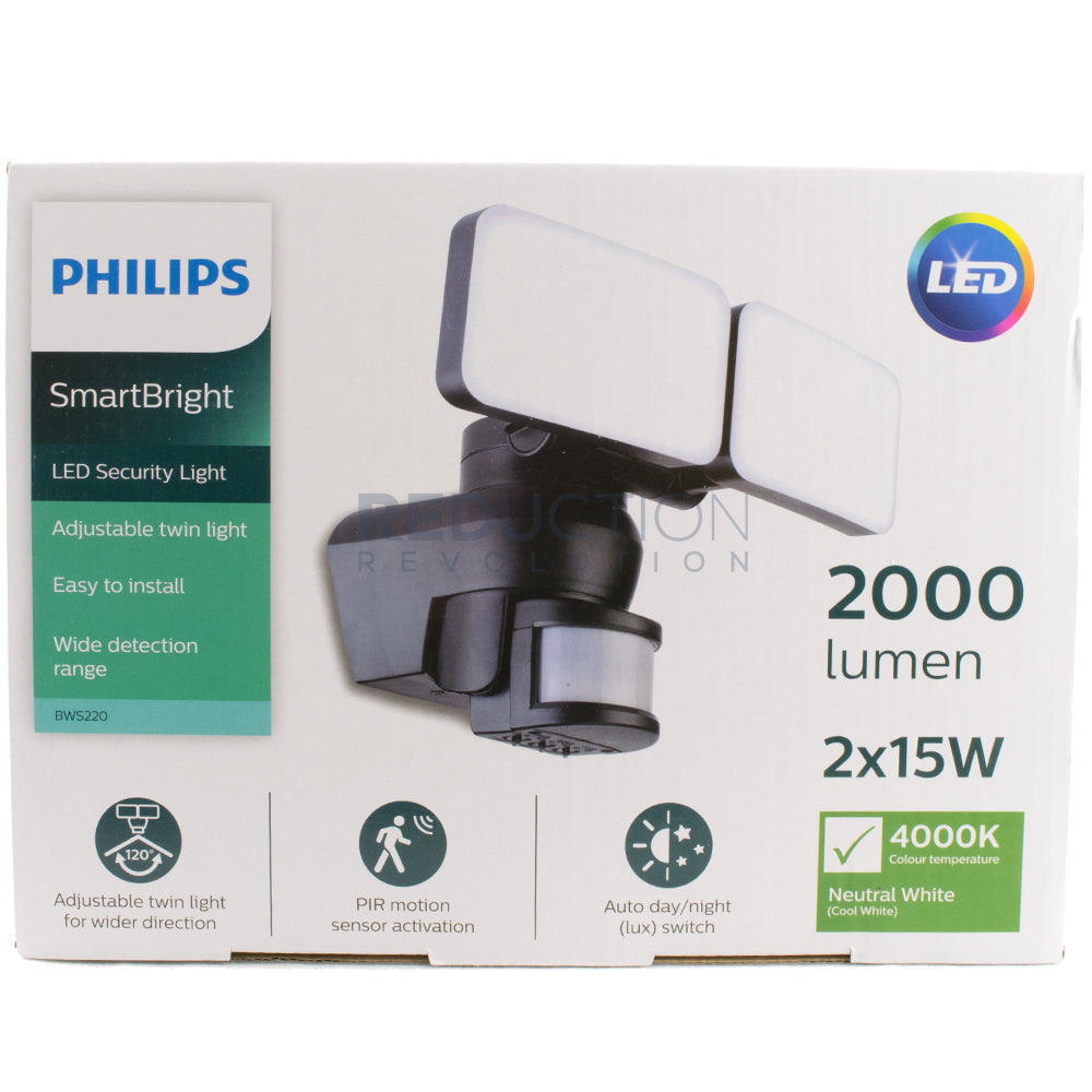 Philips Smartbright Led Motion Sensor Security Light 2 X 15w Also Wiring Lights Together With