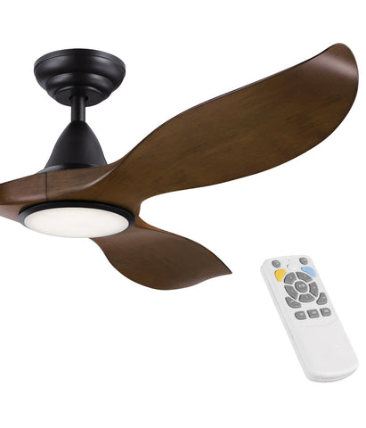 EGLO Noosa Aged Elm DC Ceiling Fan With Light