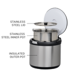 Parts of the Billyboil Thermal Cooker