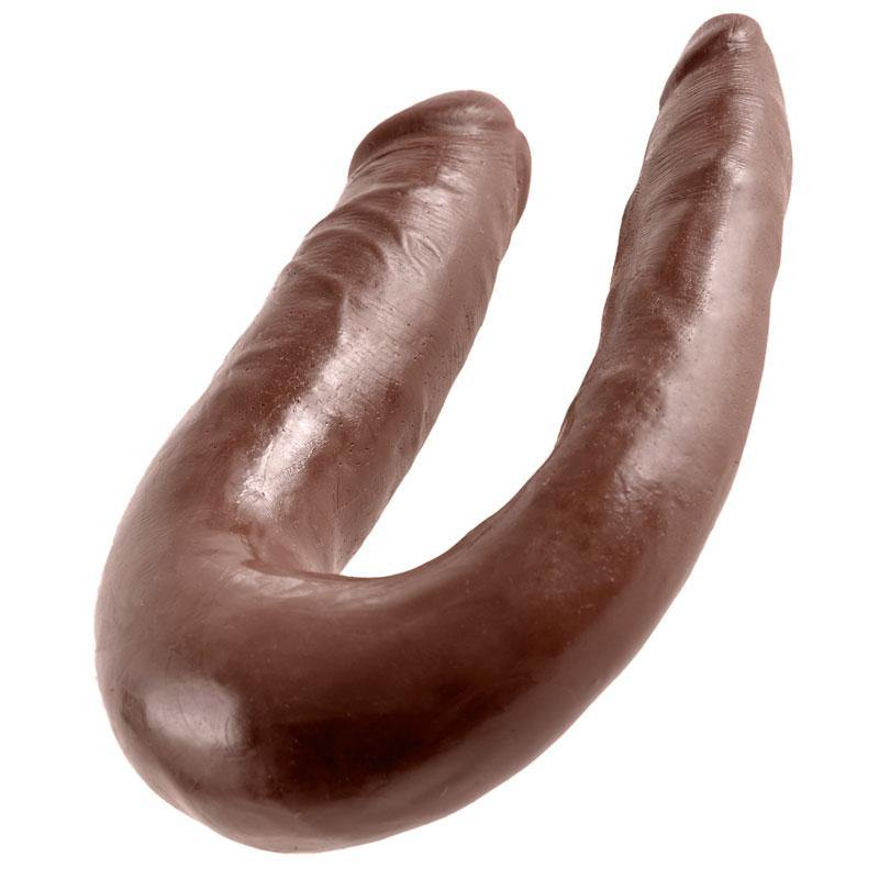 King Cock Small Brown Double Trouble Dildo