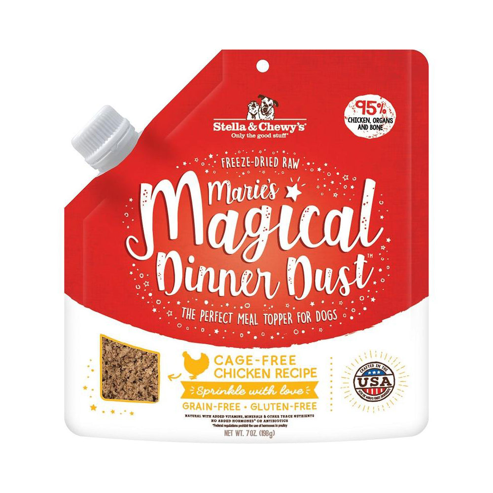 Stella & Chewy's Marie's Magical Dinner Dust Freeze-Dried Raw Cage-Free Chicken Dog Food Topper