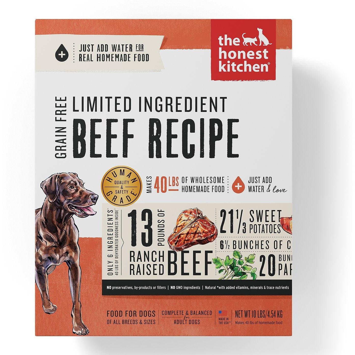 The Honest Kitchen Limited Ingredient Diet Beef Recipe Grain-Free Dehydrated Dog Food