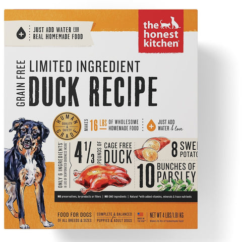 The Honest Kitchen Limited Ingredient Diet Duck Recipe Grain-Free Dehydrated Dog Food