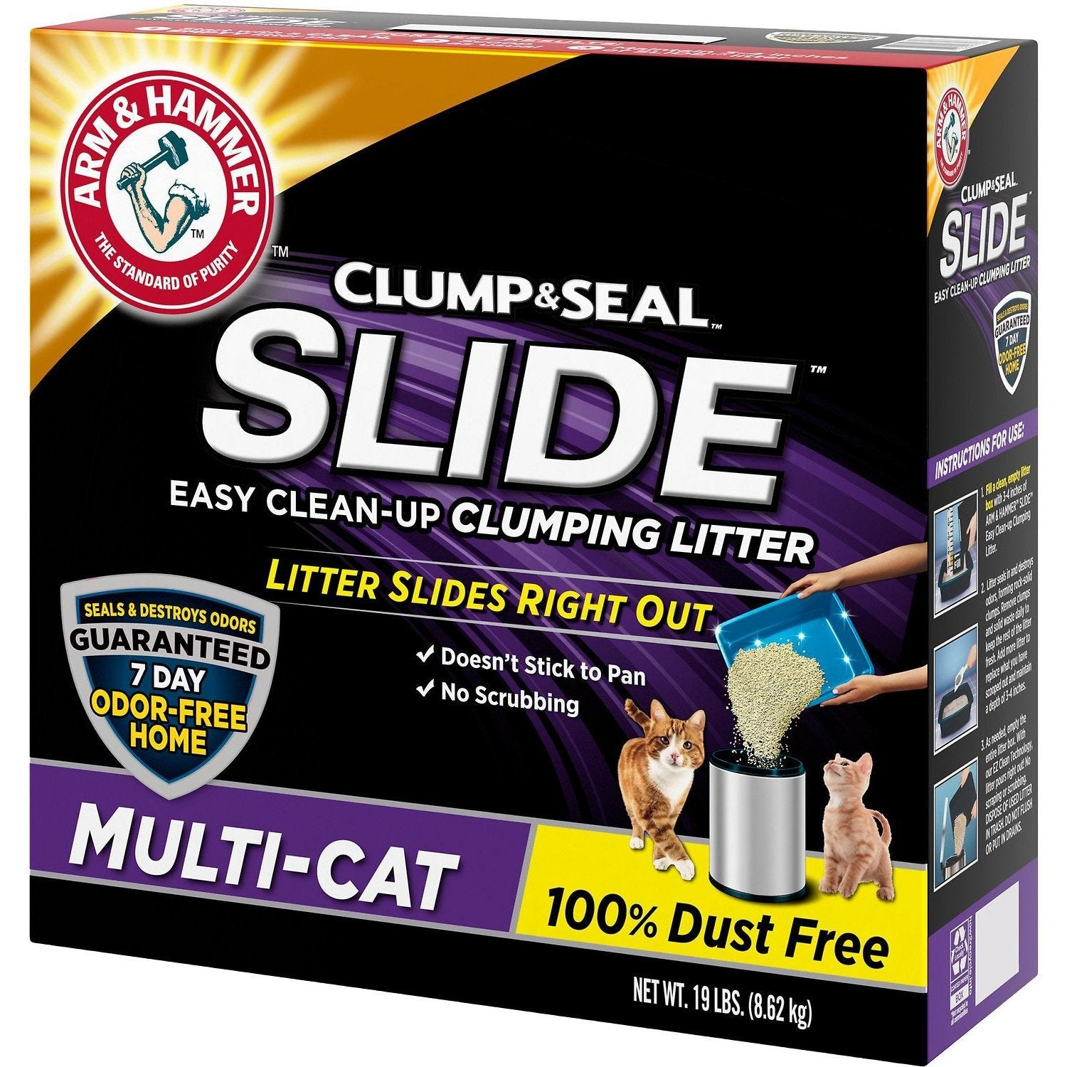 Arm & Hammer Litter Slide Multi-Cat Scented Clumping Clay Cat Litter