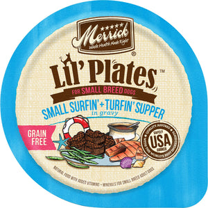 Merrick Lil' Plates Adult Small Breed Grain Free Surfin & Turfin Canned Dog Food