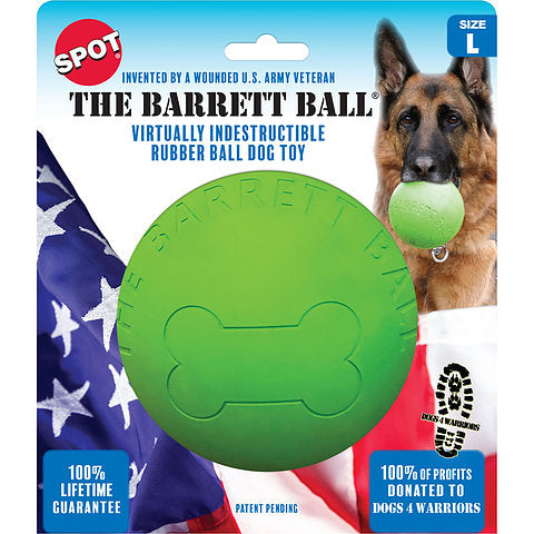 """The Barrett Ball"" Large Rubber Dog Toy"