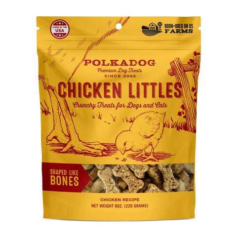 Polka Dog Bakery Chicken Littles – Bone Shaped Chicken Dog Treats