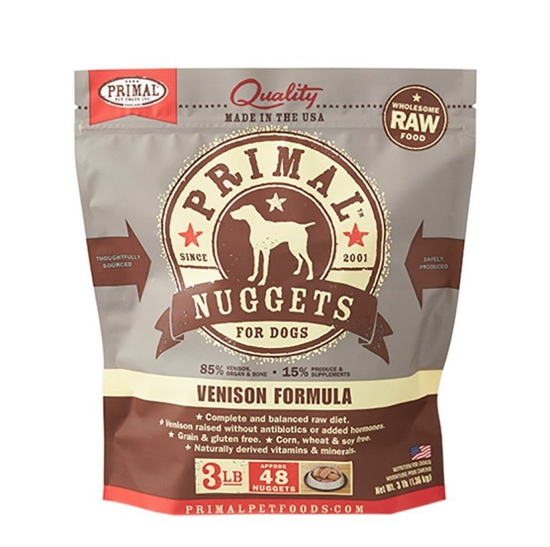 Primal Raw Frozen Canine Venison Formula Nuggets Dog Food