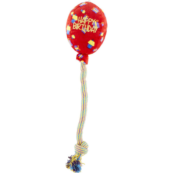 KONG Occasions Birthday Balloon Dog Toy, Red