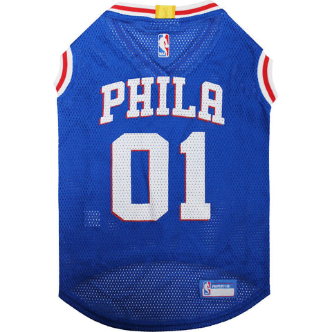 Pets First NBA Philadelphia 76ers Dog & Cat Mesh Jersey