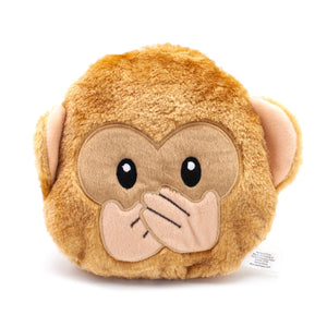 ZippyPaws Emojiz Speak No Evil Monkey Dog Toy