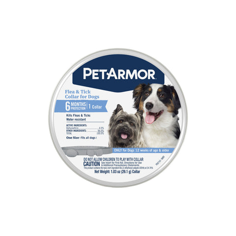 PetArmor Flea & Tick Collar for Dogs, 6 Months Protection