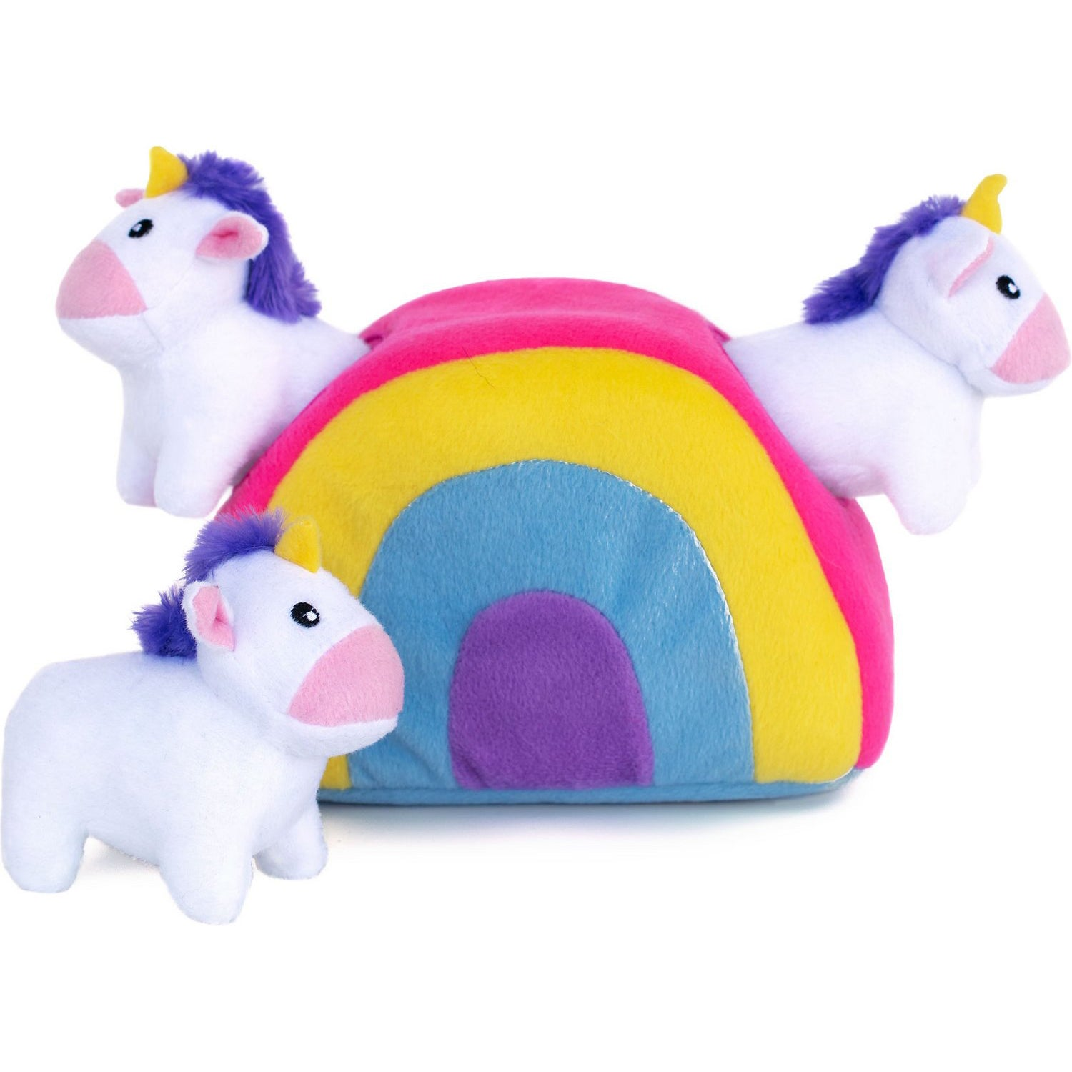 ZippyPaws Zippy Burrow Unicorns in Rainbow