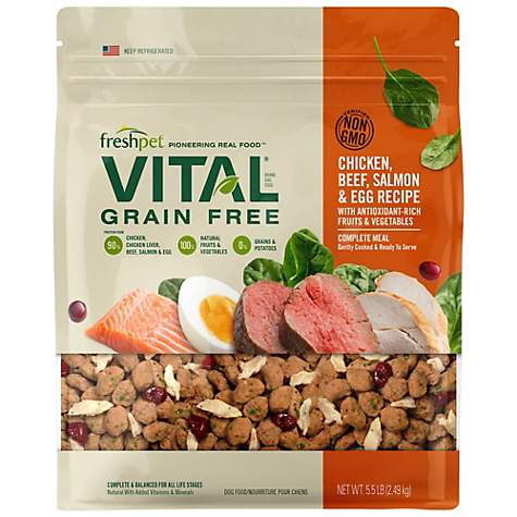 Freshpet Vital Complete Meals Grain-Free Chicken, Beef, Salmon & Egg Fresh Dog Food