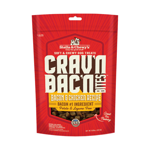 Stella & Chewy's Crav'n Bac'n Bites Bacon & Chicken Recipe Dog Treats