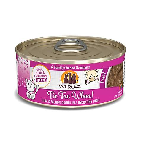 Weruva Pate Tic Tac Whoa! Tuna & Salmon Dinner in a Hydrating Puree Canned Cat Food