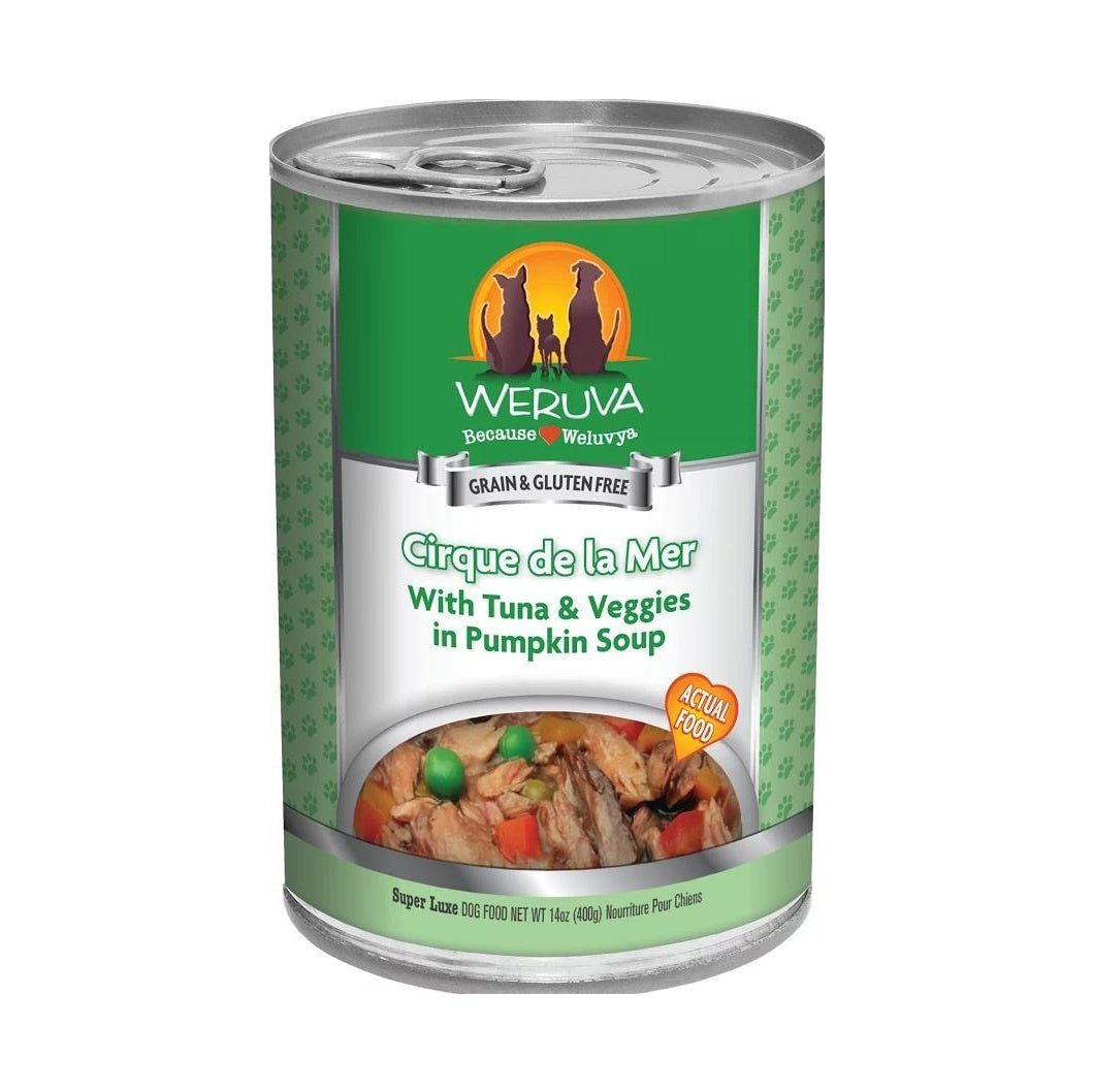 Weruva Cirque de la Mer with Tuna and Veggies in Pumkin Soup Canned Dog Food