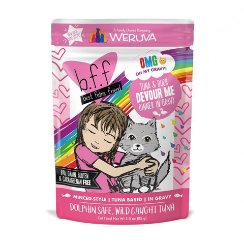 Weruva BFF Tuna and Duck Devour Me Pouches Wet Cat Food