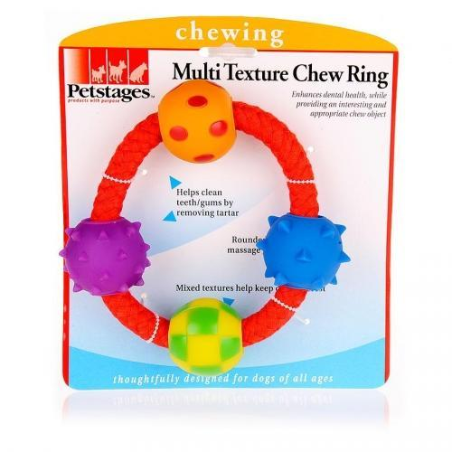Petstages Multi Textured Chew Ring Dog Toy