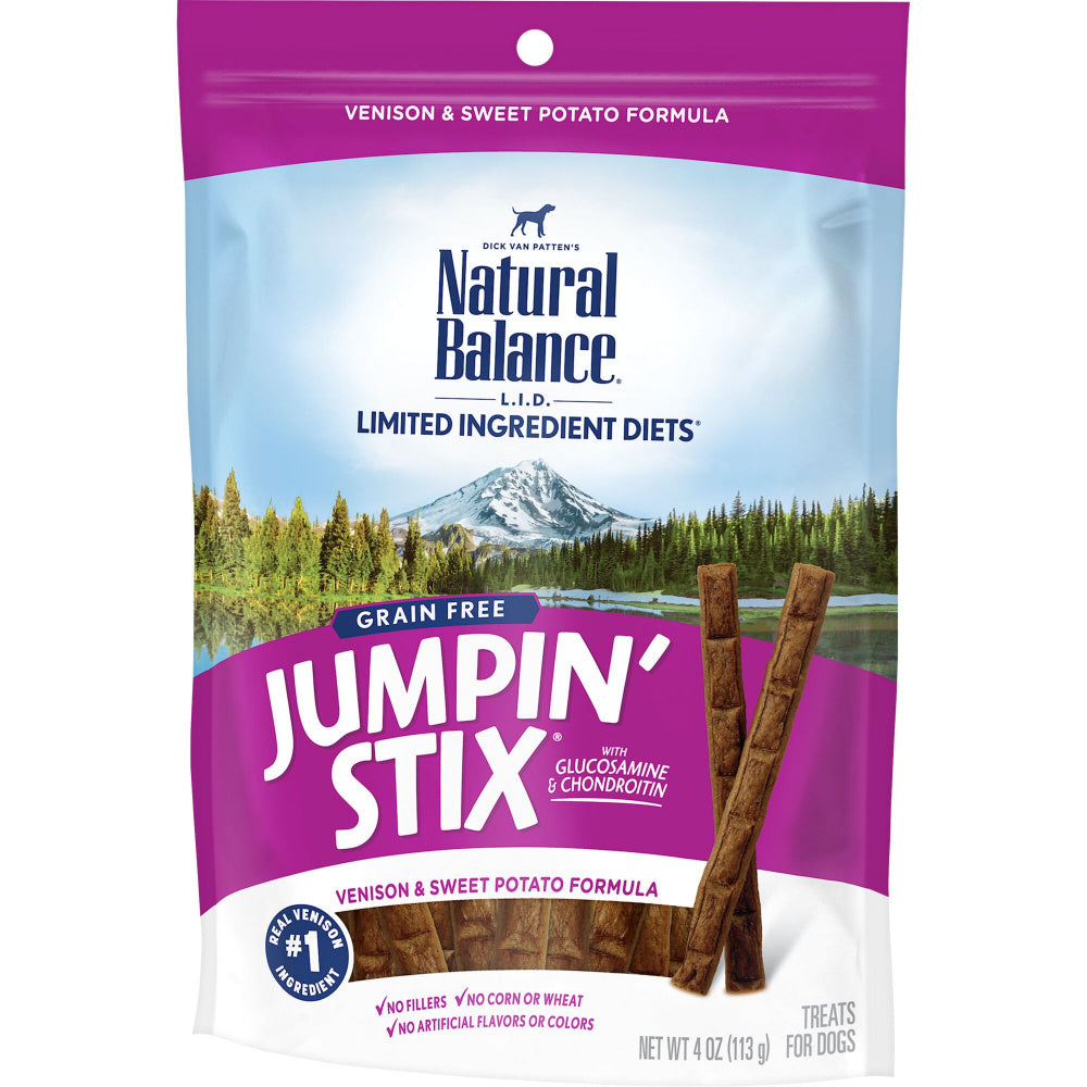 Natural Balance L.I.D. Limited Ingredient Jumpin' Stix Venison and Sweet Potato Formula Dog Treats
