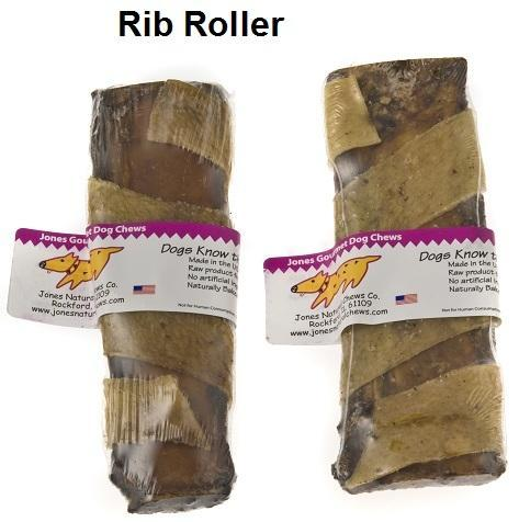 Jones Natural Chews Beef Rib Roller Dog Treat