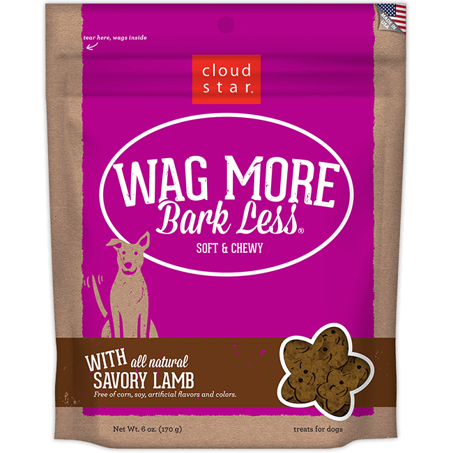 Cloud Star Wag More Bark Less Soft and Chewy Savory Lamb Dog Treats