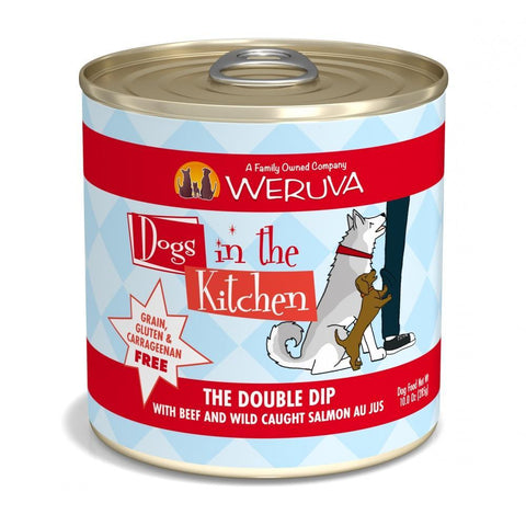 Weruva Dogs in the Kitchen The Double Dip Grain Free Beef and Salmon Canned Dog Food