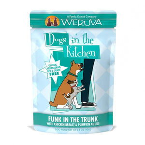 Weruva Dogs in the Kitchen Funk in the Trunk Grain Free Chicken and Pumpkin Dog Food Pouch