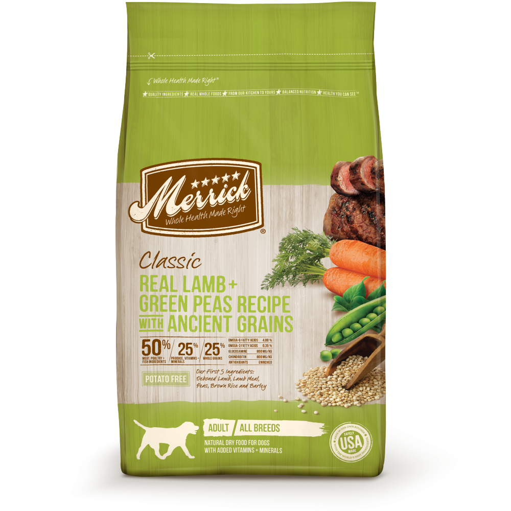 Merrick Classic Real Lamb and Green Peas with Ancient Grains Dry Dog Food