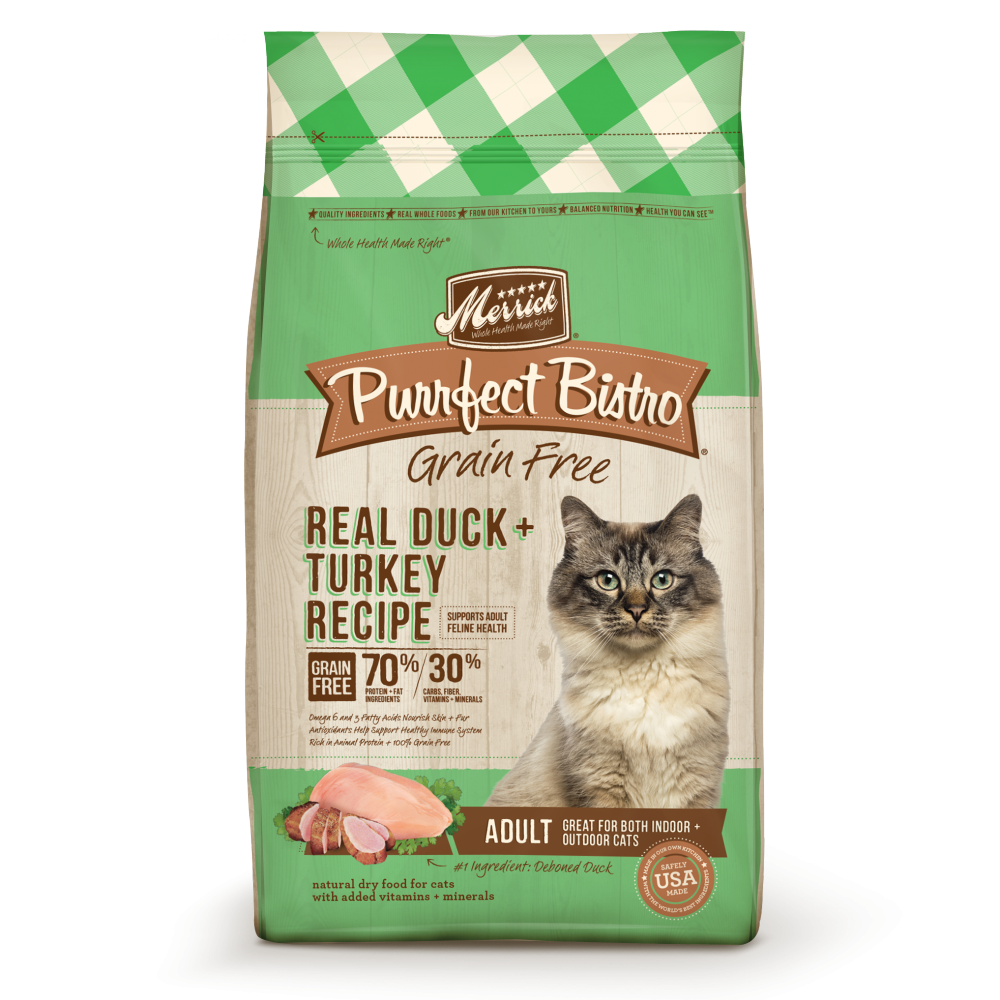 Merrick Purrfect Bistro Grain Free Real Duck and Turkey Recipe Dry Cat Food
