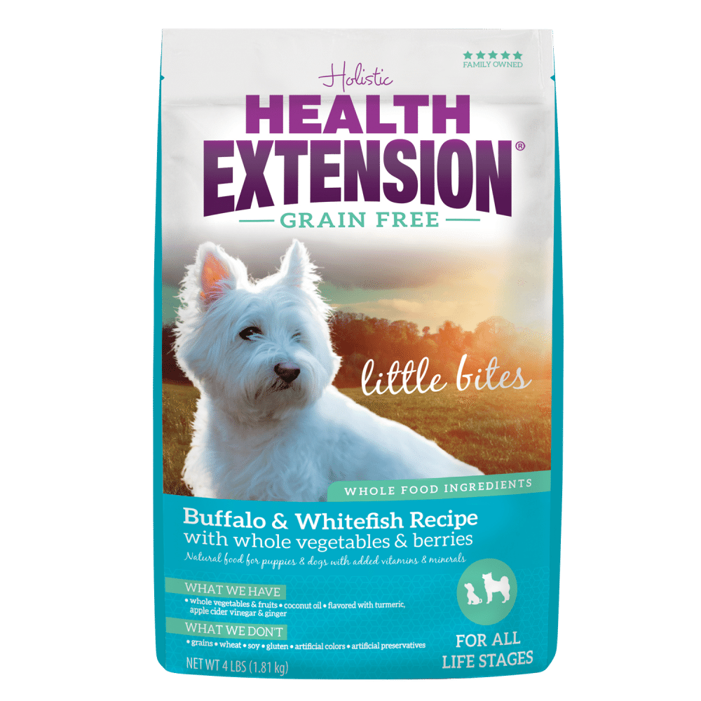 Health Extension Little Bites Small Breed Grain Free Buffalo and Whitefish Recipe Dry Dog Food
