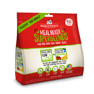 Stella & Chewy's Meal Mixer SuperBlends Grain Free Cage Free Duck Recipe Freeze Dried Raw Dog Food Topper