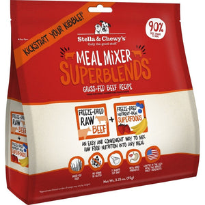 Stella & Chewy's Meal Mixer SuperBlends Grain Free Grass Fed Beef Recipe Freeze Dried Raw Dog Food Topper