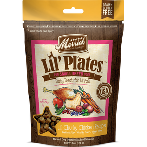 Merrick Lil' Plates Grain Free Lil' Chunky Chicken Dog Treats