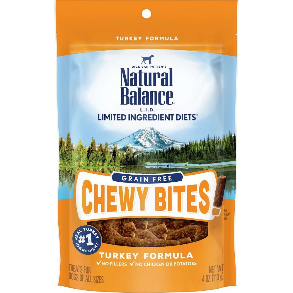 Natural Balance L.I.D. Limited Ingredient Diets Grain Free Chewy Bites Turkey Formula Dog Treats