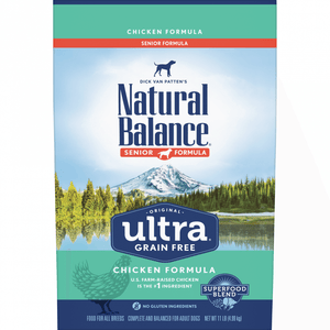 Natural Balance Original Ultra Grain Free Senior Reduced Calorie Recipe with Chicken Dry Dog Food