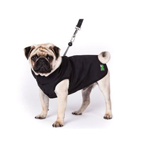 Pawz 1Z Coat with Built-In Dog Harness, Black