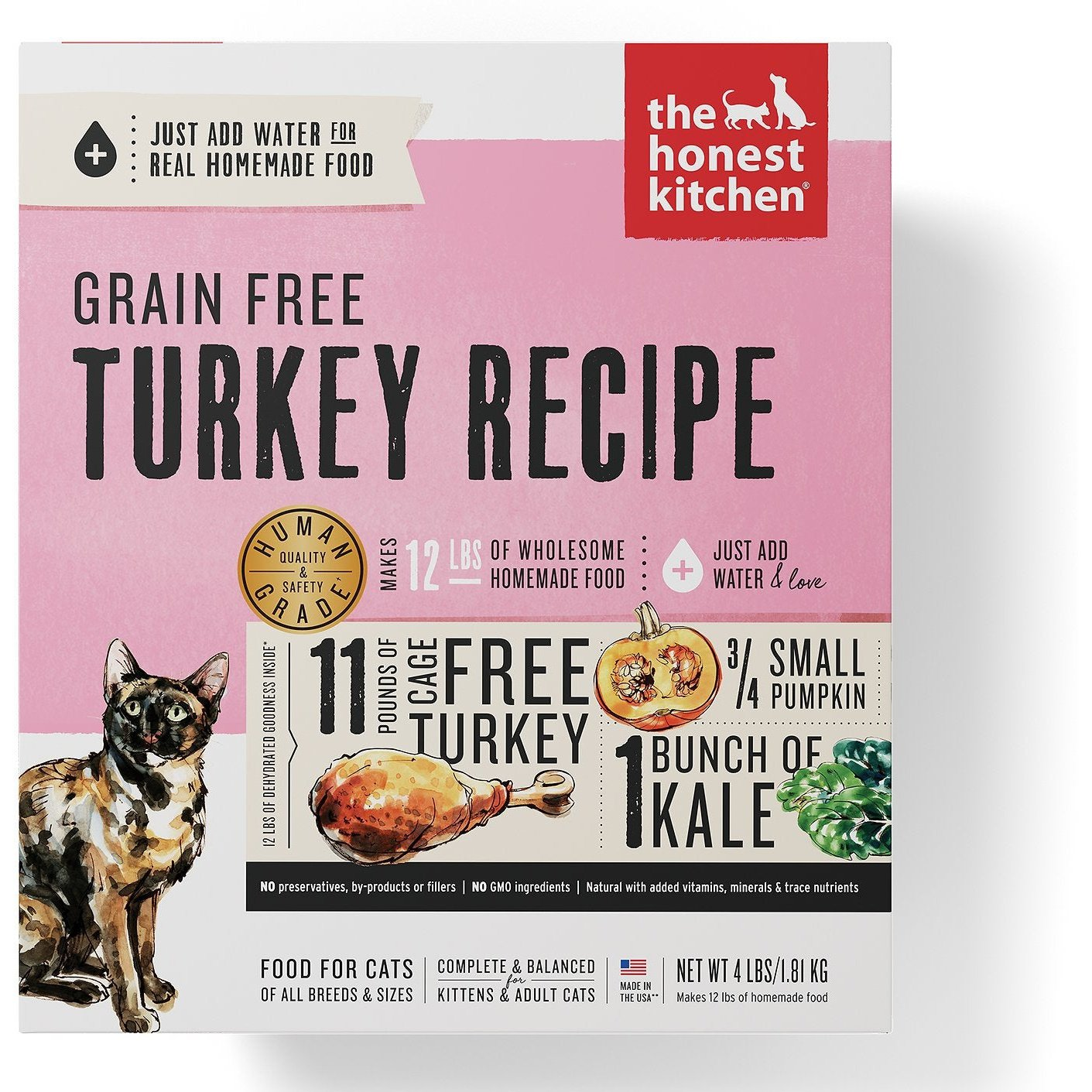The Honest Kitchen Grain-Free Turkey Recipe Dehydrated Cat Food