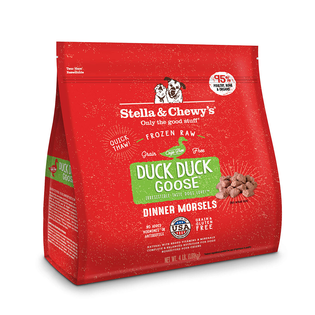 Stella & Chewy's Dinner Morsels Duck Duck Goose Frozen Raw Dog Food