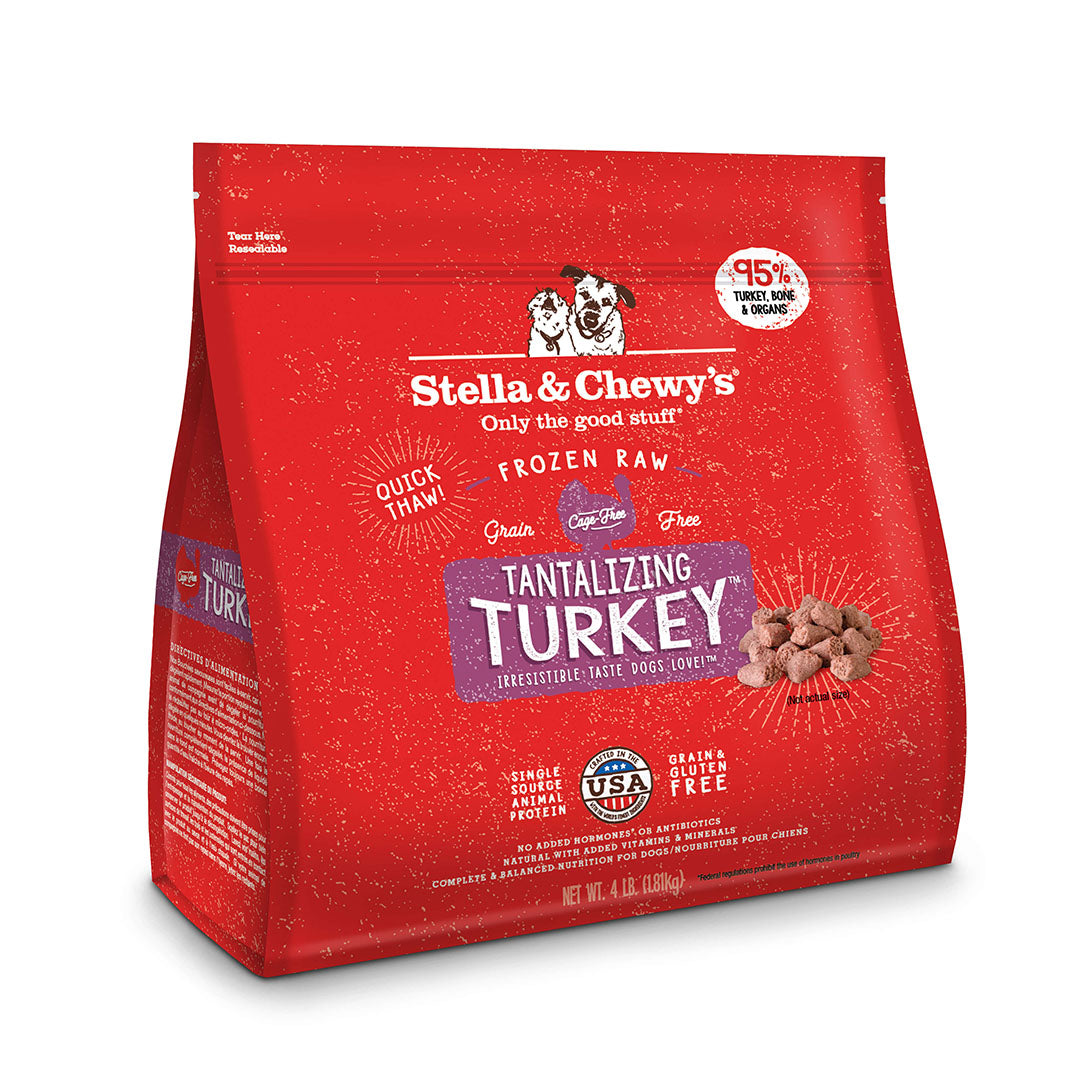 Stella & Chewy's Dinner Morsels Tantalizing Turkey Frozen Raw Dog Food